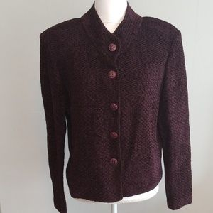 St. John Chenille Sweater Jacket